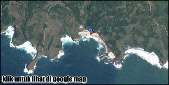 download peta lokasi pantai klayar Pacitan